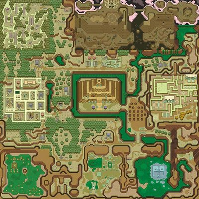 A Link To The Past Dark World Map.Legend Of Zelda A Link To The Past Dark World Creativehobby Store